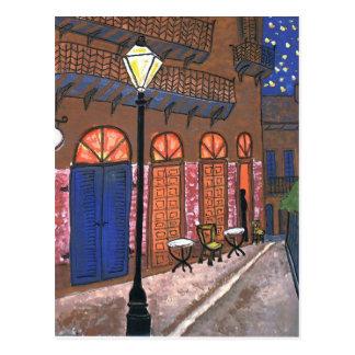 Café de la noche de New Orleans Tarjeta Postal