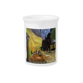Café de la noche de Van Gogh Jarra Para Bebida