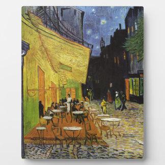 Café de la noche de Van Gogh Placa De Plastico