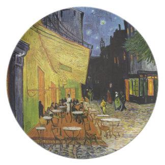 Café de la noche de Van Gogh Plato De Comida