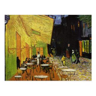 Café de la noche de Van Gogh Postal