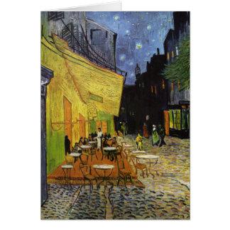 Café de la noche de Van Gogh Tarjeta De Felicitación