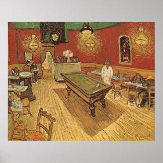 Café de la noche de Vincent van Gogh Póster
