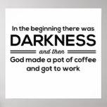 Café de la oscuridad entonces posters