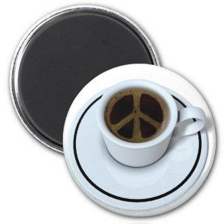Café de la paz imán redondo 5 cm