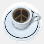 Café de la paz pegatinas