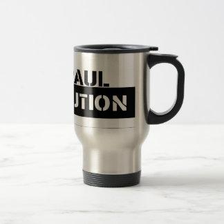 Café de la revolución de Ron Paul/taza del té Taza De Viaje De Acero Inoxidable