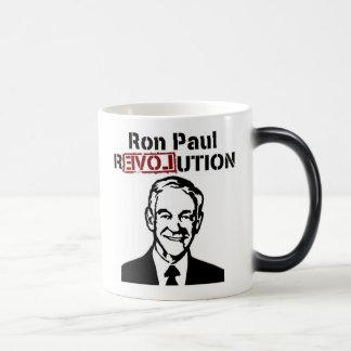 Café de la revolución de Ron Paul/taza/taza del té Taza Mágica