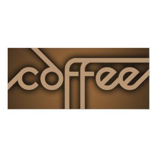 """CAFÉ de la sombra (personalizable del color) Invitación 4"""" X 9.25"""""""