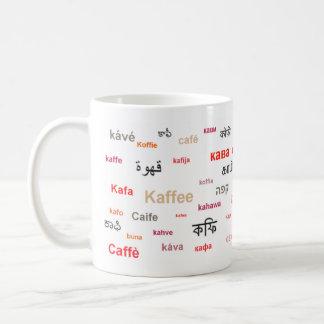 Café de la taza del mundo (en rojo)