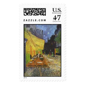 Café de la terraza de Van Gogh Sello Postal