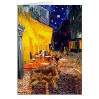Café de la terraza - organismo 3 de Irisih Tarjetas