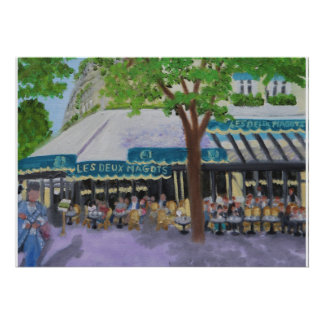 Café de Les Deux Magots: Poster de PARÍS