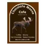 Café de los alces del chocolate postal
