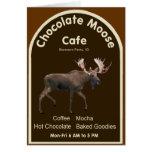Café de los alces del chocolate tarjetas