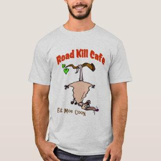Café de los animales atropellados - coma el Coon Playera