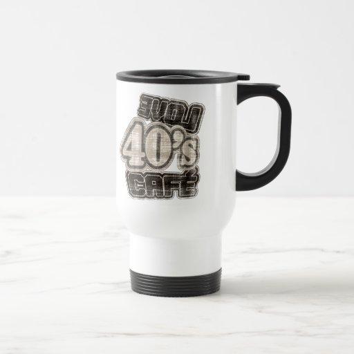 Café de los años 40 del amor del vintage - taza