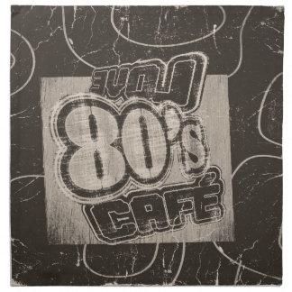 Café de los años 80 del amor del vintage - servilletas