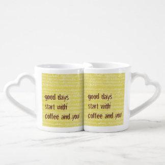Café de los buenos días usted sistema de la taza taza amorosa