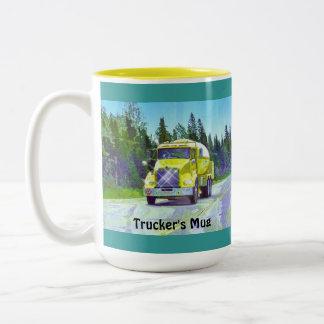 Café de los camioneros en la taza de Drinkware de