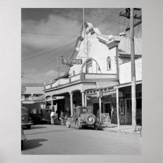 Café de Monroe, Key West, los años 30 Póster