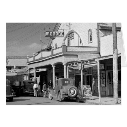 Café de Monroe, Key West, los años 30 Tarjeta De Felicitación