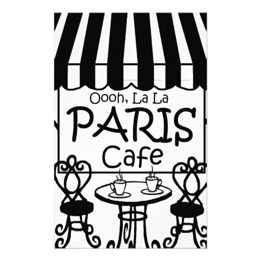 Café de París del La del La de Oooh Papelería De Diseño