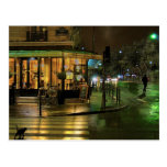 Café de París en la noche Postal