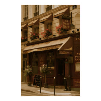 Café de París por día Póster