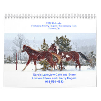 Café de Sardis Lakeview Calendarios De Pared