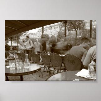 Café de Vesuvio, París Póster