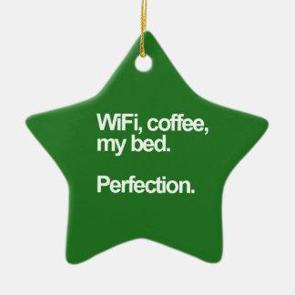 Café de WiFi mi funn lindo de la felicidad de la Adorno Navideño De Cerámica En Forma De Estrella