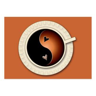 café de yang del yin tarjetas de visita grandes