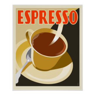 Cafe Deco Espresso Poster