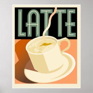 Cafe Deco Latte Poster