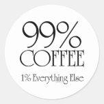 Café del 99% etiqueta redonda