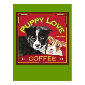Café del amor adolescente postales