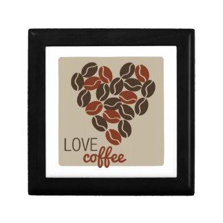 Café del amor caja de joyas