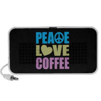 Café del amor de la paz altavoz de viajar