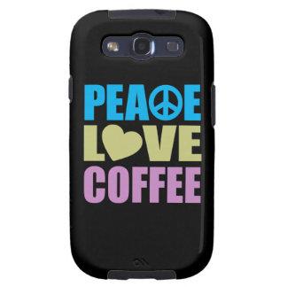 Café del amor de la paz samsung galaxy s3 fundas