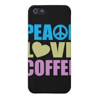 Café del amor de la paz iPhone 5 cobertura