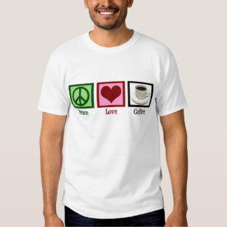 Café del amor de la paz poleras