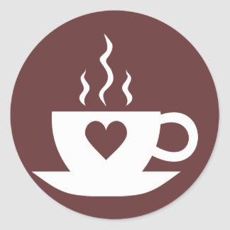 Café del amor pegatina redonda