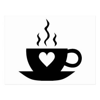 Café del amor tarjetas postales
