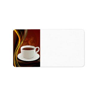 Café del arte del café etiqueta de dirección