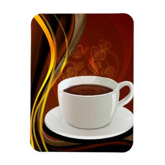 Café del arte del café imán rectangular