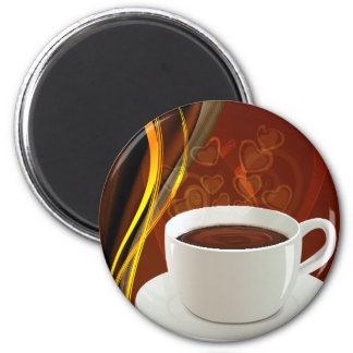 Café del arte del café imán redondo 5 cm