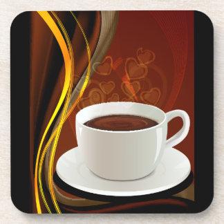 Café del arte del café posavasos de bebida