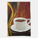 Café del arte del café toalla