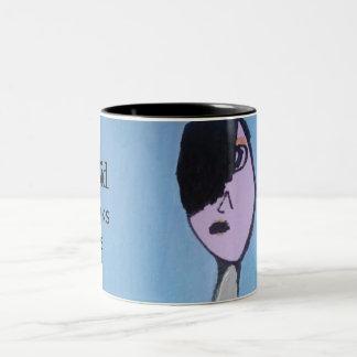 Café del arte del niño de Emo o taza del té